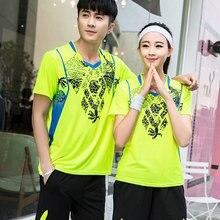 Рубашка для бадминтона для мужчин и женщин, Спортивная рубашка для бега, футболка для настольного тенниса, теннисные майки, тренировочная Форма команды, Джерси