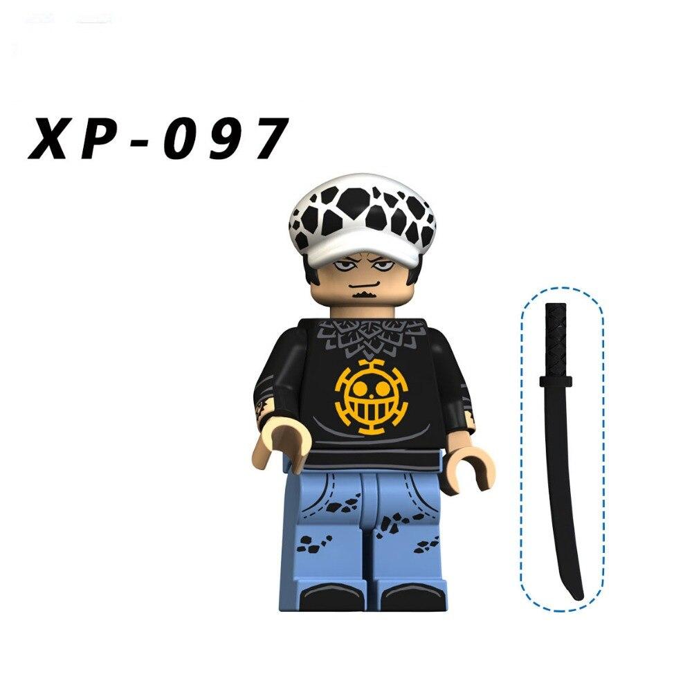 Single Sale Compatible LegoINGlys Cartoon Movie ONE PIECE Tratalgar Law Nami Sabo Mini Figures Bricks Building Blocks Toys Gift