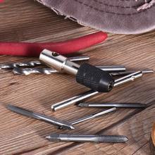 9 шт./компл. черный Шелковый M3-M6 для пальцев, искусственные бриллианты, Т-образный ручной гаечный ключ Отвертка Держатель для крана набор ручных инструментов, пригодный для 2,5 мм-6 мм J3