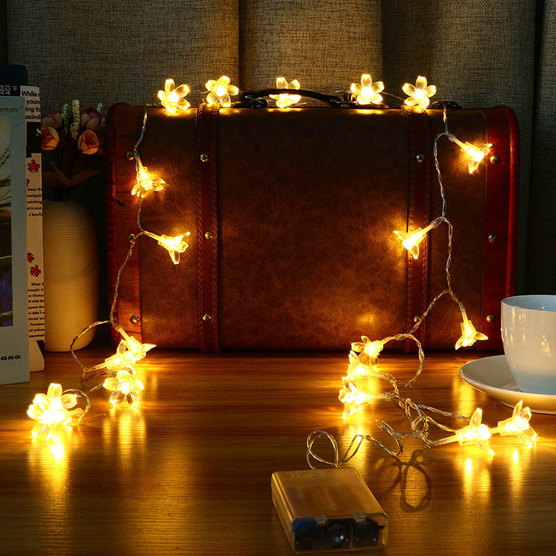 Mising 10 LED Light String Battery Bedroom Christma Lamp String Outdoor Decoration Iron Creative Lights for Garden Holiday Decor