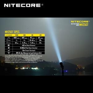 Image 5 - Prix usine Nitecore MH25GT lampe de poche LED haute intensité 1000 Lumens projecteur Rechargeable avec batterie 3400mAh