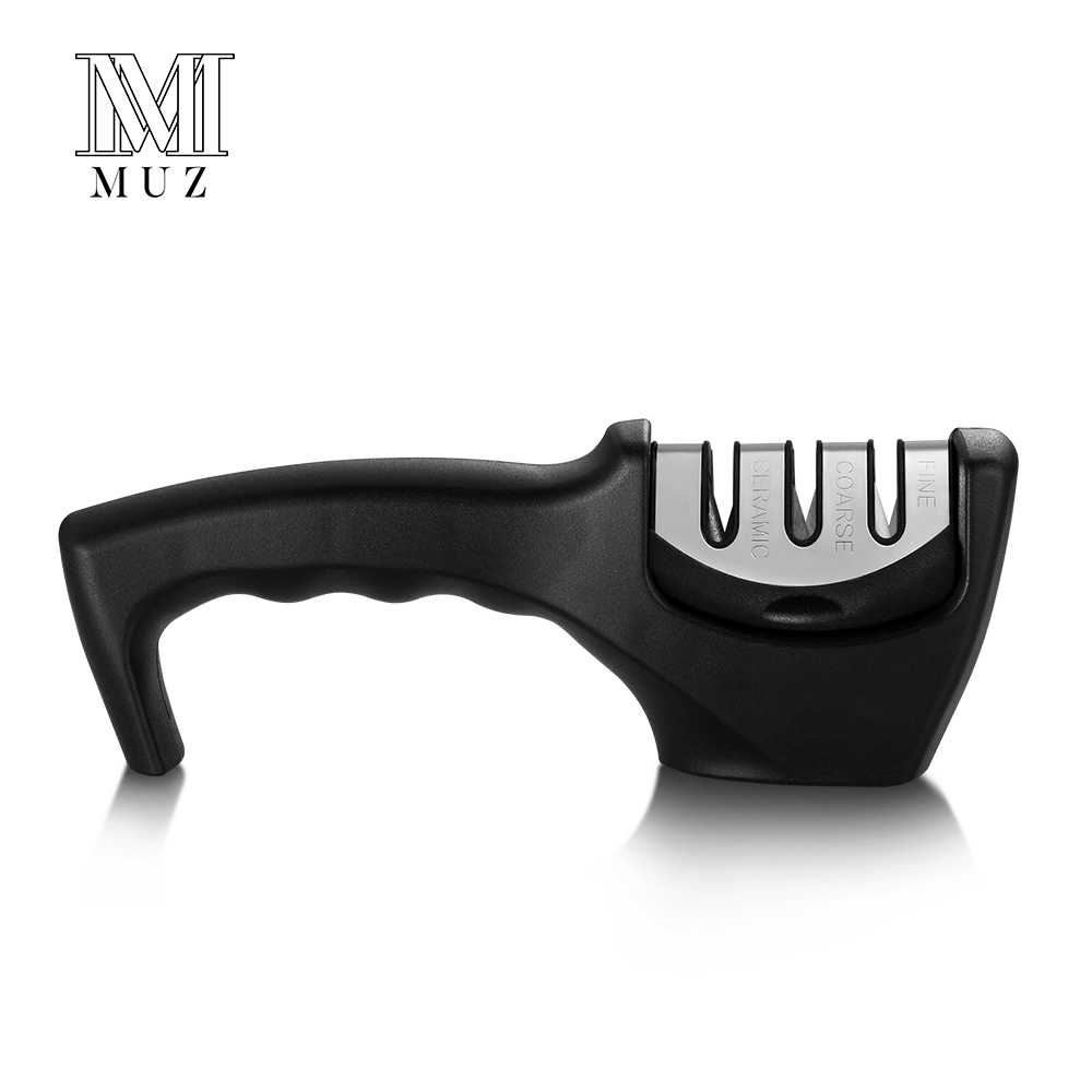 MUZ Professional 3 Stage Knife Sharpener for Stainless Steel Ceramic Kitchen Knife Diamond Tungsten Manual Sharpening Stone Tool