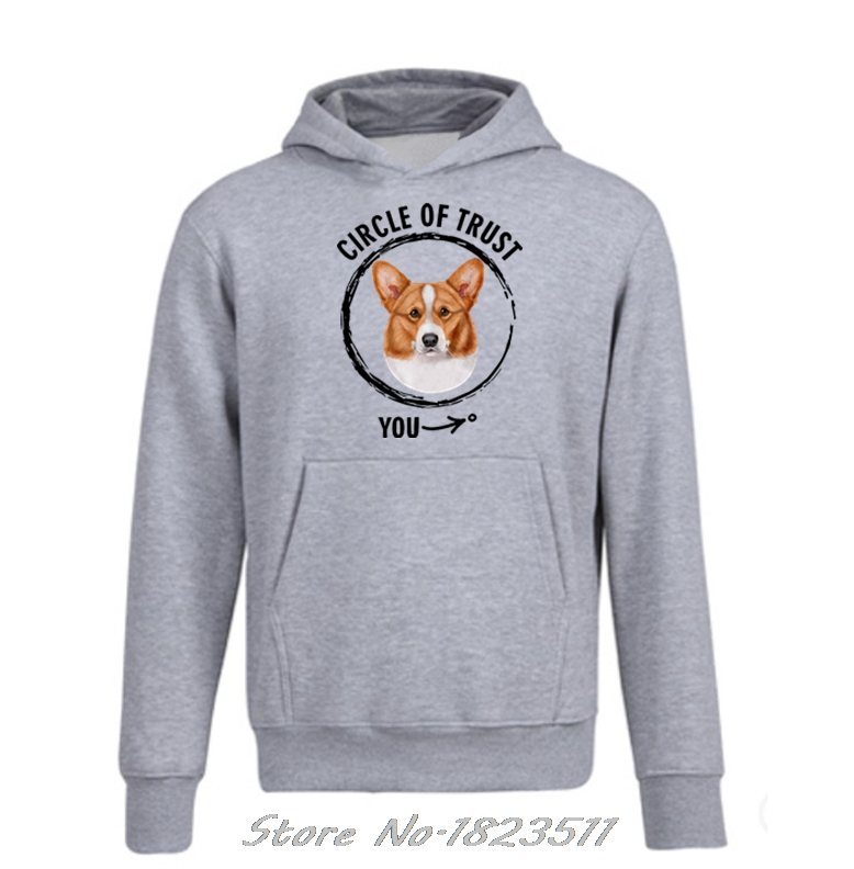 Dashing New Fashion Autumn Winter Funny Hoodie Circle Of Trust Welsh Corgi Gift For Dog Lover Design Sweatshirt Men Hoody Jacket Tops Volume Large Men's Clothing