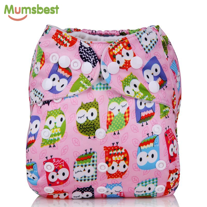 [Mumsbest] New Baby Washable Cloth Diaper Cover Cartoon Owl Cloth Nappy Reusable Quick Drying Diapers Available3-13kg