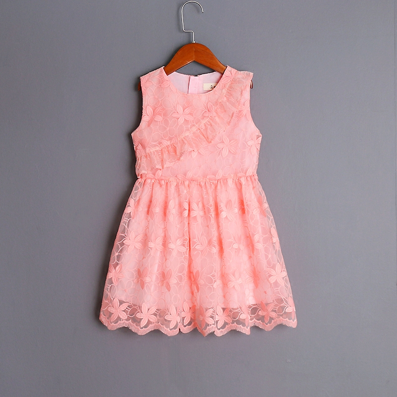 Summer mother daughter dress family matching clothes infantile pink organza lace dress kids girls birthday evening party dresses summer dress girl matching mother daughter dress lace dresses for wedding party family look vestido mae e filha girls dresses