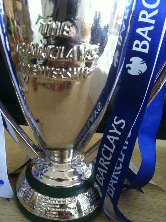 ФОТО new style blue ribbon 30 cm  english  Premiership  trophy  Cup,barcley premiership cup , Cup Soccer Football Replica Trophy Cup