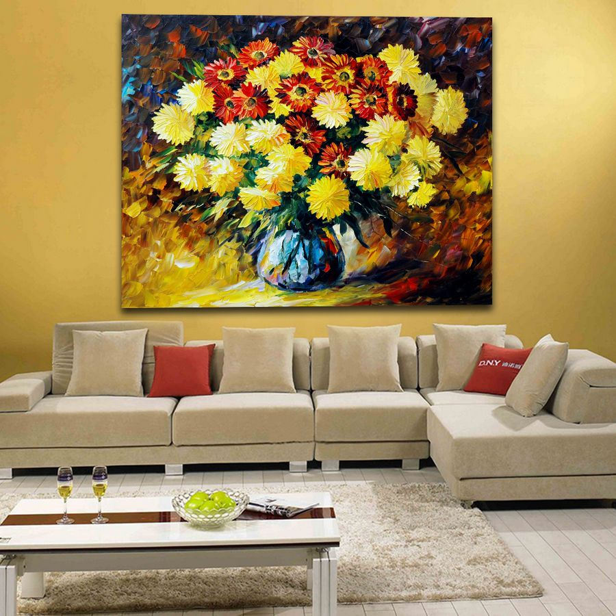 Modern Art Decor Fragrance of Flowers Palette Knife Oil Painting ...