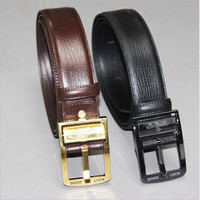 Men S Belt Tungsten Steel Buckle Leather Men S Belt