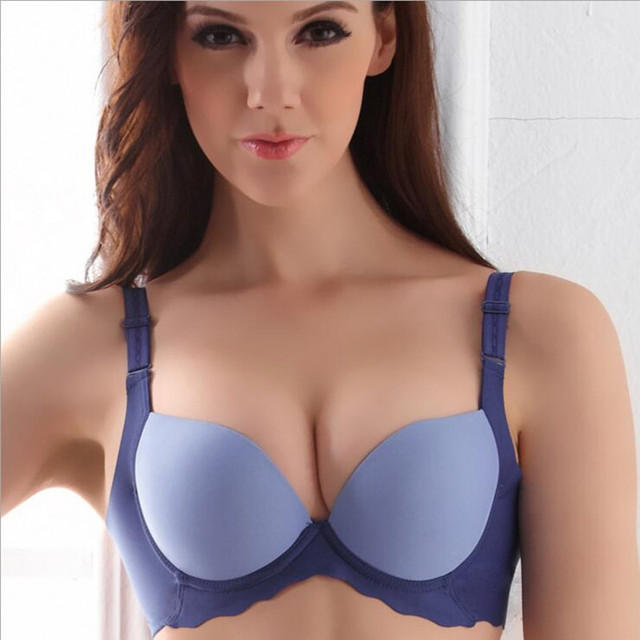 39172fc2cf4207 Fashion Sexy Super Push Up Bra Cup Women Bra Brassiere 70 75 80 85 B Cups  For Ladies Plus Size Underwear sujetador push up mujer