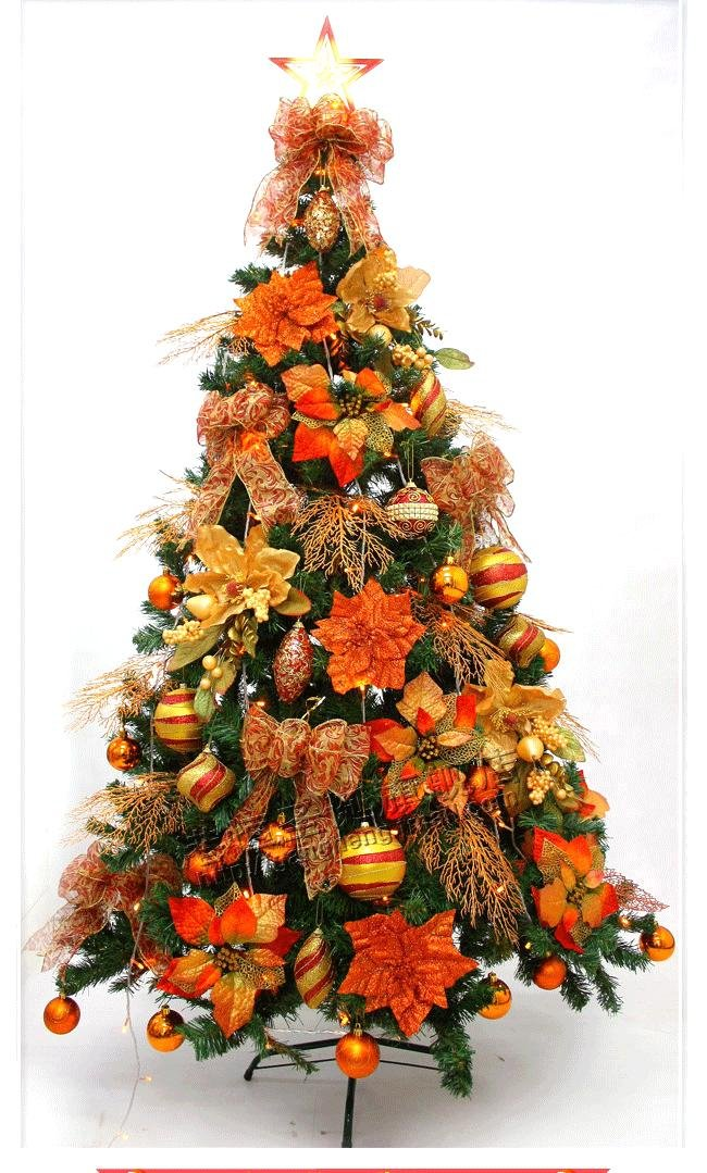 gang h christmas decorations 210cm bronze color high quality luxury decoration packages christmas tree 1setlot 6kgs in christmas from home garden on - Orange Christmas Decorations