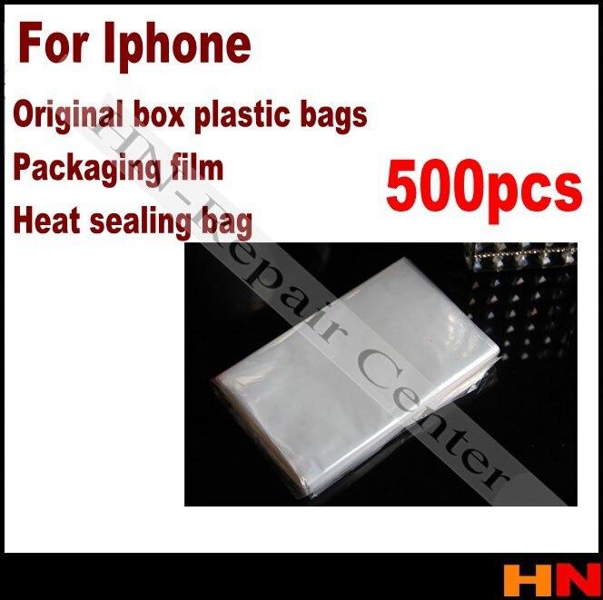 bilder für 500 stücke telefon top qualität box von plastiktüten schrumpffolie verpackungsfolie heißsiegeln tasche für iphone für samsung