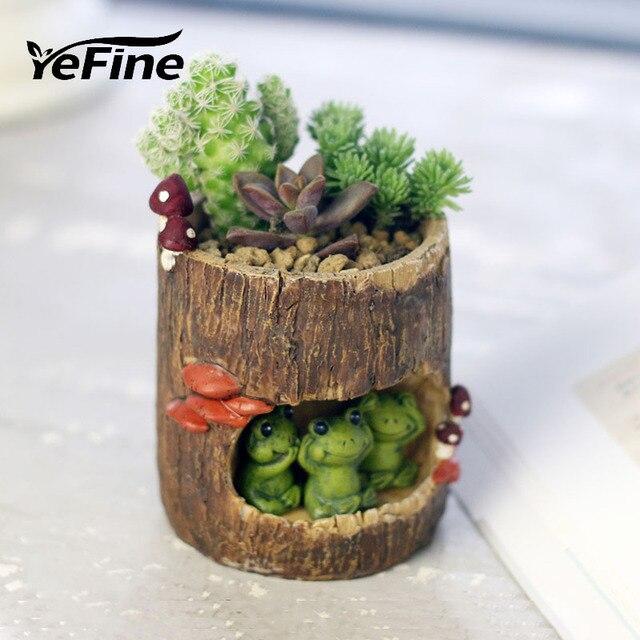 Christmas Succulent Gift.Us 10 83 35 Off Yefine Nursery Pots Cartoon Animal Desktop Resin Flowerpot Garden Decoration Succulent Bonsai Plants Flower Pot Christmas Gift In