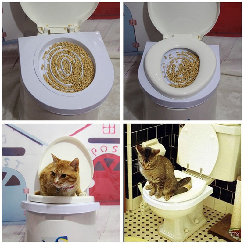 Pet Cat Toilet Training Kit Pet Kitty Potty Train System Step By Step Training Toilet Tray Training Toilet Pet Supplies Dropship