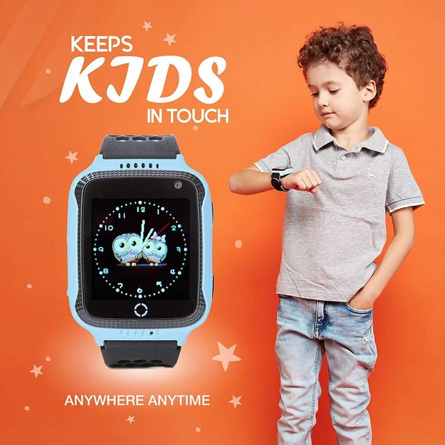 Smart Watch For Kids Boys Girls Fitness Baby Phone Touch Screen With GPS Tracking Tracker Children SOS Call Camera Blue Pink 1
