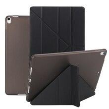 Для iPad 2/3/4 флип-чехол для iPad Mini 3 2 1 чехол s силиконовый мягкий задний многоразовый чехол из искусственной кожи Smart Cover для iPad Mini 4 Coque