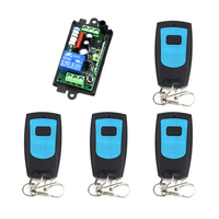 220V 1CH 10A Receiver 4Transmitters Waterproof RF Wireless Remote Control Power Switch System For Home Control