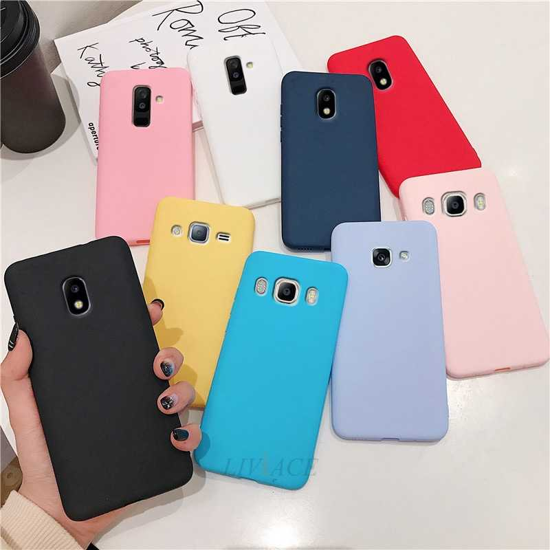 candy color silicone phone case on for samsung galaxy j7 pro j8 j6 j5 j4 j2 prime core 2015 2016 2017 2018 tpu back cover coque