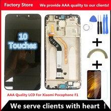 "6,1"" AAA ЖК-дисплей+ рамка для Xiaomi Pocophone F1 ЖК-экран для POCO F1 ЖК-экран дисплей Разрешение 2246*1080"