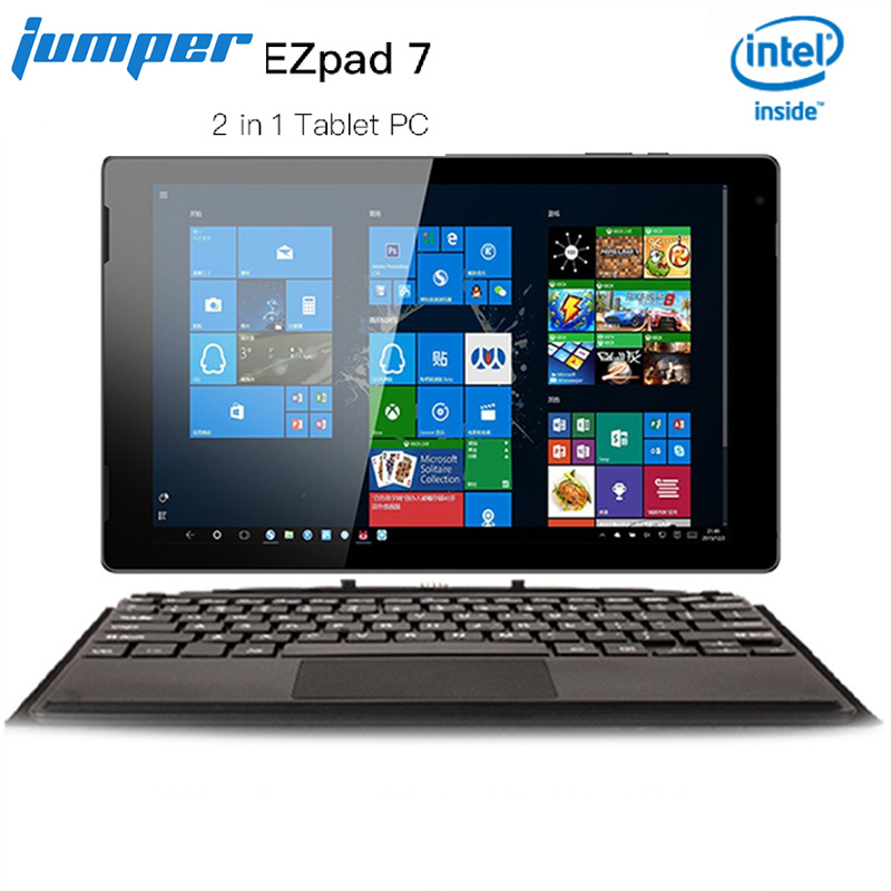 Jumper Ezpad 7 2 In 1 <font><b>Tablet</b></font> PC <font><b>10.1</b></font> Inch <font><b>Windows</b></font> <font><b>10</b></font> 1920*1200 Intel Cherry-T Z8350 Quad Core 1.44GHz 4GB+64GB 6500mAh <font><b>Tablet</b></font> image