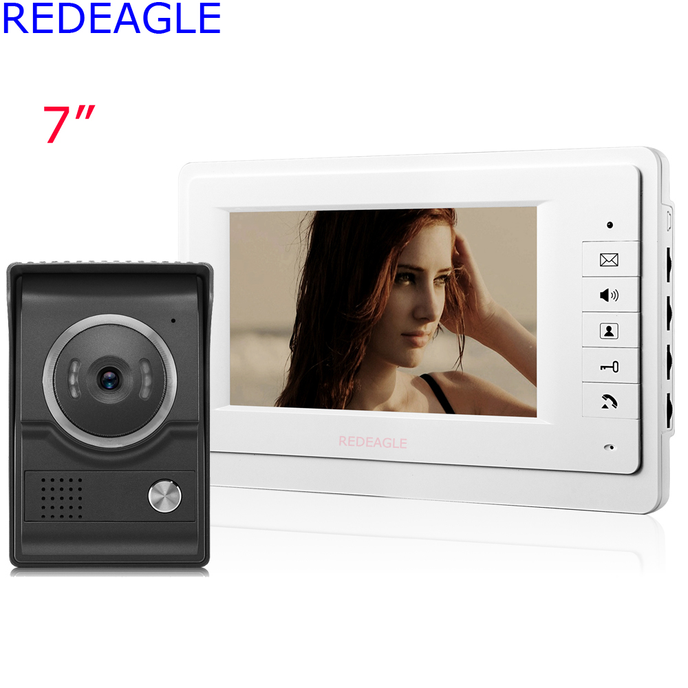 New Arrivals Home 7 Inch TFT LCD Video Door Phone Intercom System One 700TVL Color Doorbell Camera + 4M Cable Free Shipping home 7 inch color lcd video door phone intercom system with night vision doorbell camera 4m cable free shipping