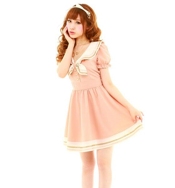 Japan School Uniform 2018 Girls Summer Japanese Style Navy -9790