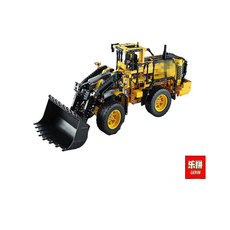 LEPIN 20006 1636pcs Technic Series Volvo L350F Wheel Loader Model Building Blocks Bricks Compatible with 42030 Children DIY Gift lepin 20006 technic series volvo l350f wheel loader model building kit blocks bricks compatible with toy 42030