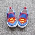 2017 de primavera y otoño los niños superman lienzo shoes boys & niñas batman casual shoes hombre araña desgaste inferior de goma para Kid, RJ419