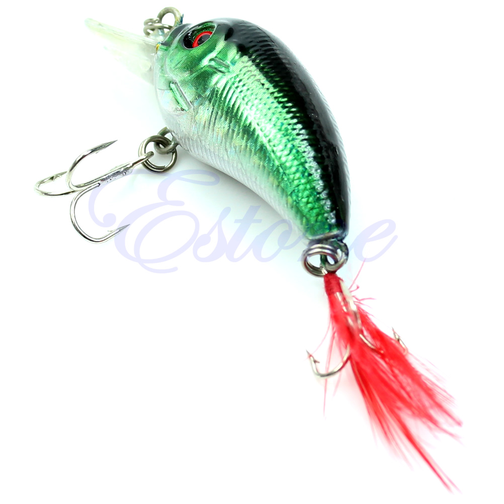 Image 4 - 5pcs 85mm 4g Biomimetic Fishing Lures Crankbait Feather Sharp Hook Tackle Treble Fishing Accessories-in Fishing Lures from Sports & Entertainment