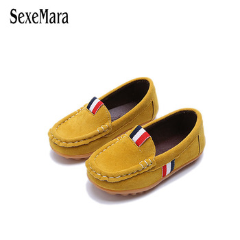 Unisex 2019 Suede girls footwear children Boys Shoes leather Toddler Baby Sneakers Slip On Brown/Green/Red/Yellow Shoes A11221