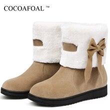 COCOAFOAL frauen Winter Schnee Stiefel Frau Plattform Ankle Boot Rot Warme  Baumwolle Unten Schuhe frauen Winter d084849dab
