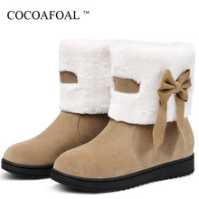 c7e5f067a1 COCOAFOAL das Mulheres da Neve do Inverno Botas Mulher Ankle Boot  Plataforma Vermelha Sapatos de Algodão Quente Para Baixo Botas.