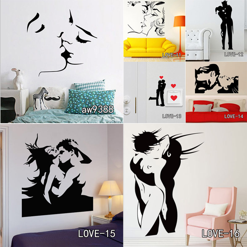 Personalized Infinity Symbol LOVE Bedroom Wall Decal Quotes Romantic Sex Vinyl Wall Stickers Home Decor Kiss Wall Art Sticker sacramento city decal landmark skyline wall stickers sketch decals poster parede home decor sticker
