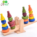 Free shipping Seesaw and balance games creative toys, wooden beam Comedian Clown Balance/scales, children's educational toys