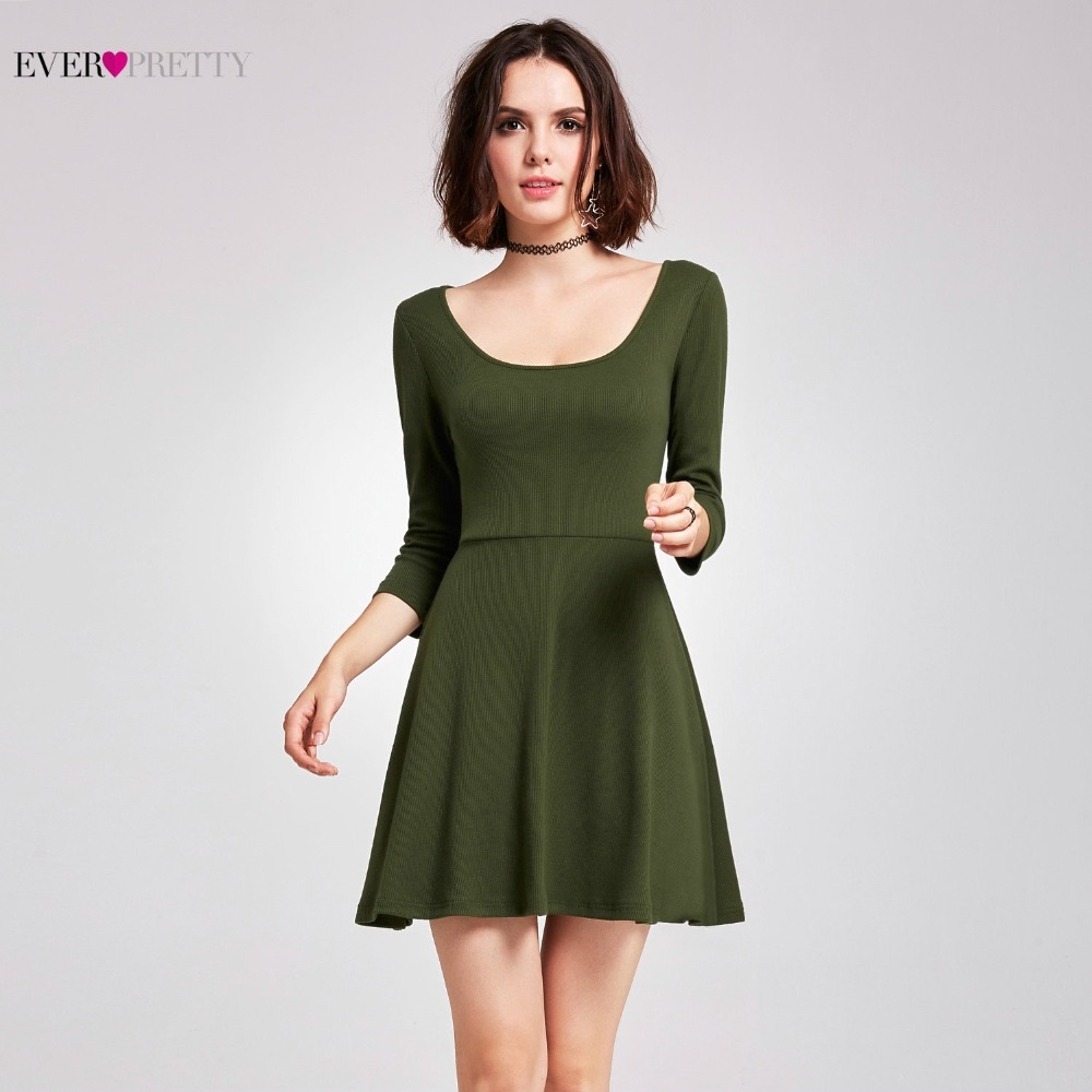 Ever-Pretty   Cocktail     Dresses   Fashion Cheap Sexy A-line Knitting Sexy Green Short   Dresses   Unique Summer Party   Dresses   AS05924