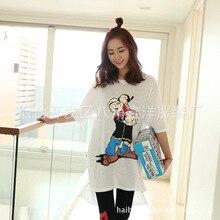Pregnant women T-shirt coat loose fashion slub cotton out lactation feeding clothing thin clothes on