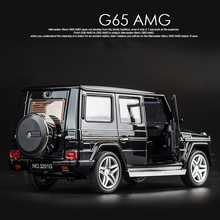 KIDAMI 1:32 Alloy MINI AUTO G65 SUV Pull Back Diecast car Model with sound light birthday Gift toy for children hot wheels