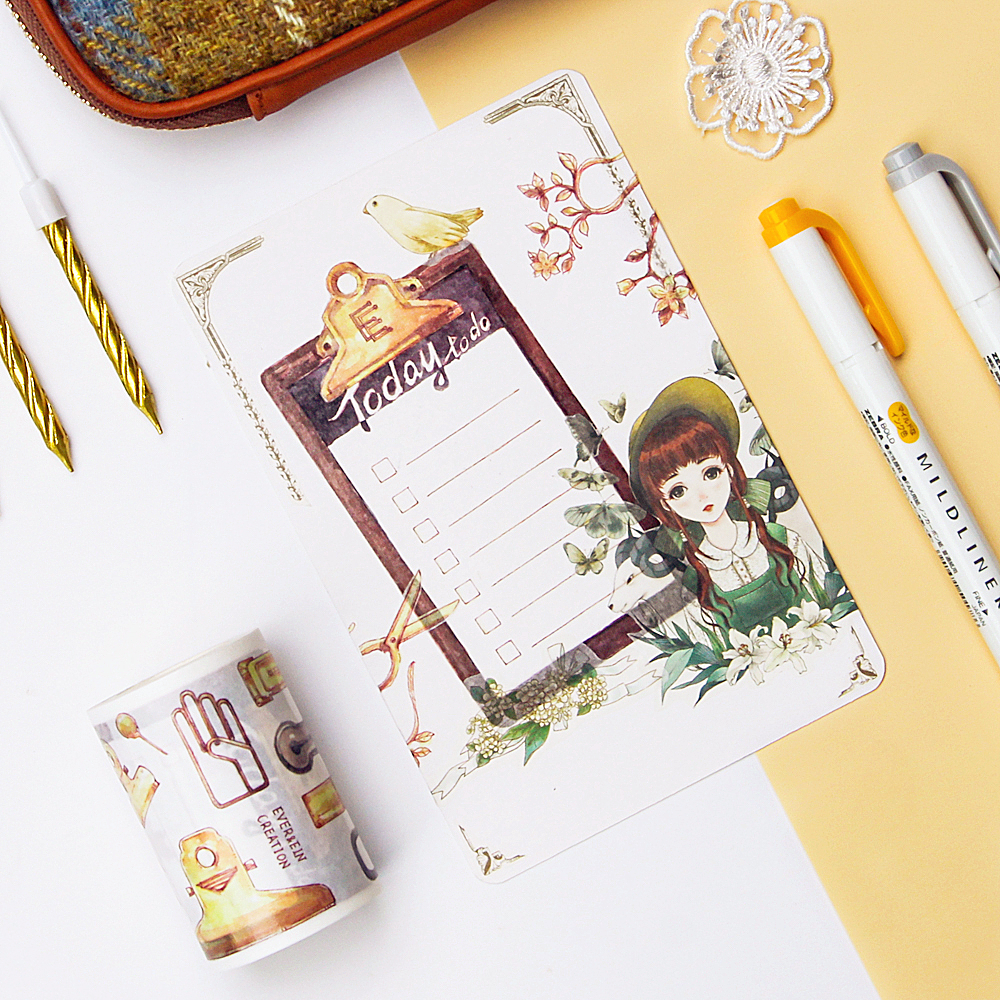 Special ink 60mm*5m Stationery hand account series vintage Autumn taste retro memo clip Washi Tape DIY Scrapbooking Masking TapeSpecial ink 60mm*5m Stationery hand account series vintage Autumn taste retro memo clip Washi Tape DIY Scrapbooking Masking Tape