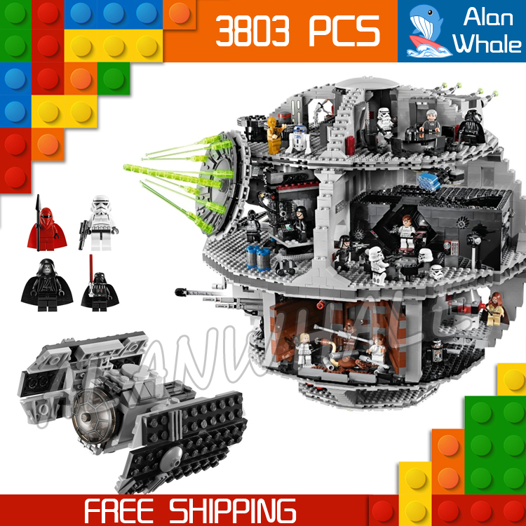 3803pcs 2016 Lepin 05035 Star wars Death Star DIY Model Building Blocks Sets Gifts Bricks Toys Compatible with Lego lepin 02012 city deepwater exploration vessel 60095 building blocks policeman toys children compatible with lego gift kid sets