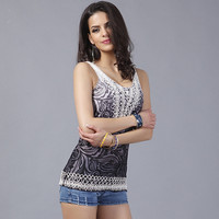 Stylish Embroidered Vest Embroidered Sleeveless Jacket With European And American Style Fashion Sling Blouse