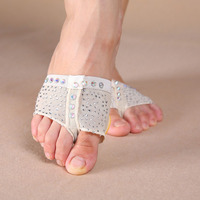 Women Stoned Belly Ballet Dance Foot Pad Protection Paw Toe Thongs Socks Half Lyrical Covers Indian