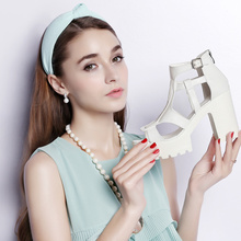 Party Sandals High-Heels Wedge Ankle-Strap Women Summer New-Arrival Guciheaven Comfortable