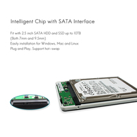 5 3 SSK HDD Case 2.5 Inch SATA Interface to USB 3.0 Adapter Hard Drive Enclosure SSD HDD Box External HDD Enclosure Black White V300 (4)