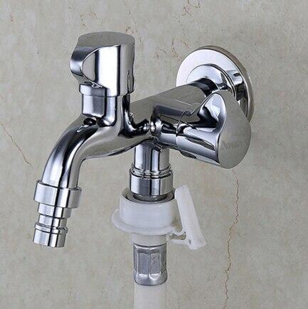 double use Brass Garden Faucet Brief bib cocks faucet washing machine faucet copper out door faucet