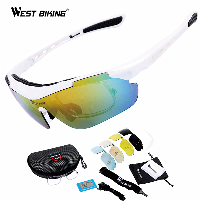 WEST BIKING Bicycle Riding Glasses Polarized Glasses Mountain Bike Outdoor Sports Equipment Prescription Windproof Glasses west biking bicycle riding glasses polarized glasses mountain bike outdoor sports equipment prescription windproof glasses