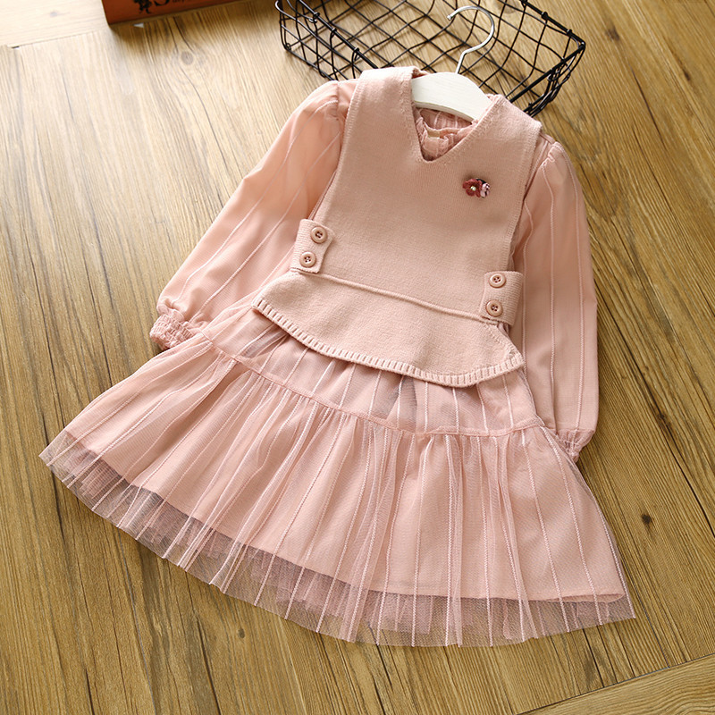 Princess Christmas Girl Dress Kids Dress Vest Two-pieces Party Costumes For Kids Girls Tulle Party Dress Birthday 3-6T Dress new fashion girls vest dress winter girl princess dress printing christmas dress for girl spring autumn girl vest dress