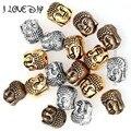 Preço de Fábrica por atacado 20 Pcs Prata Buda Contas de Metal Ouro Prata Tibetana Spacer Beads para Fazer Jóias Pulseira 10x8mm