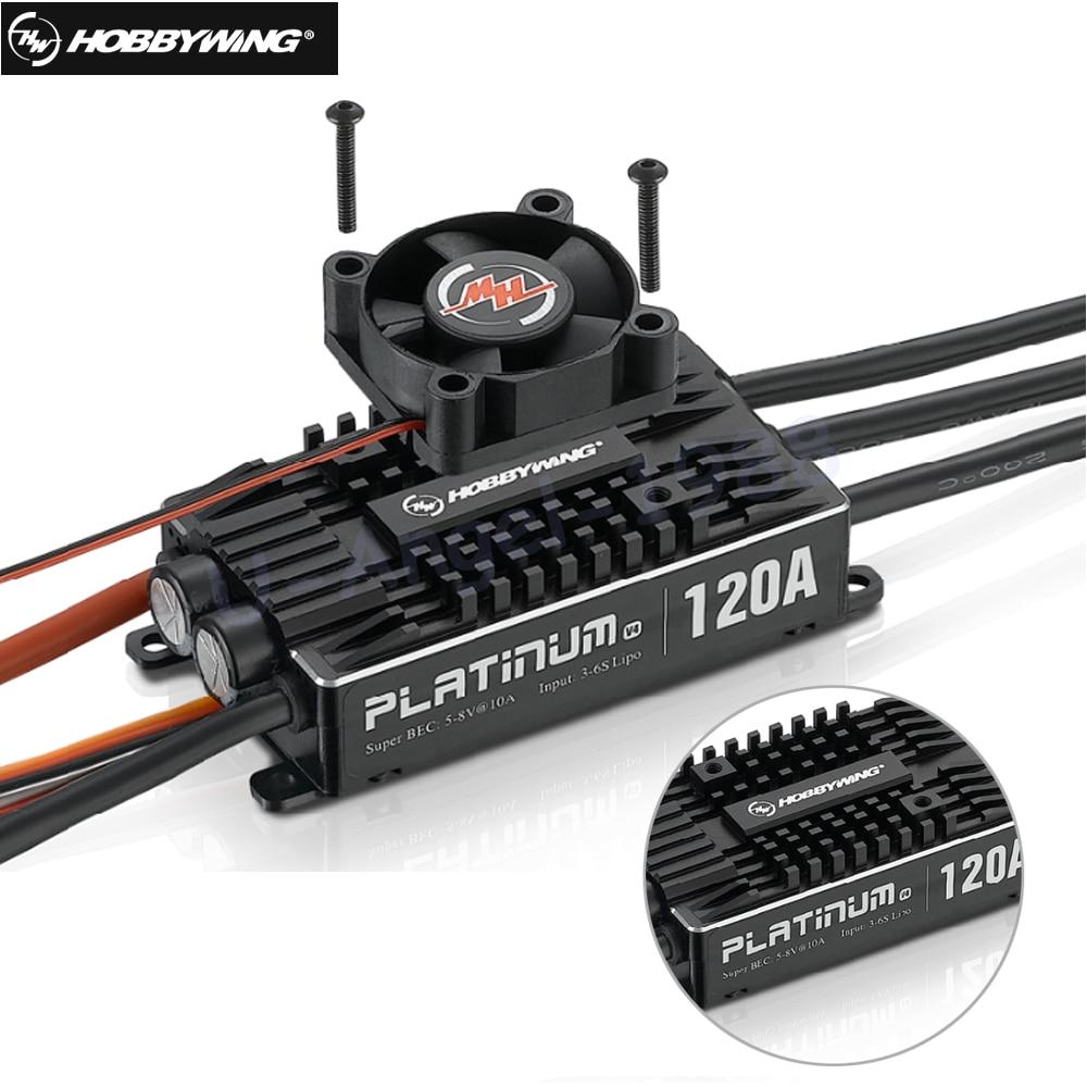원래 hobbywing 플래티넘 프로 v4 120a 3 6 s lipo bec 빈 금형 brushless esc rc 무인 항공기 헬리콥터-에서부품 & 액세서리부터 완구 & 취미 의  그룹 1