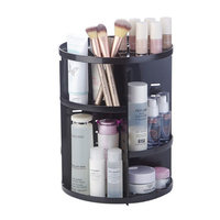 23*30cm Rotating Cosmetic Organizer Box 2018 Plastic Makeup Organizers Case Storage Rack Holder Bathroom Storage & Organization