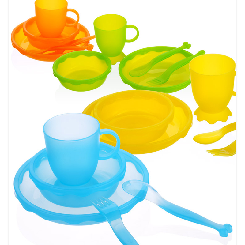 New Children Tableware BPA Free Plastic Baby Food Set Kids Dinnerware Plate Bowl Cup Fork Spoon Infant Dishes For Toddlers Baby (12)