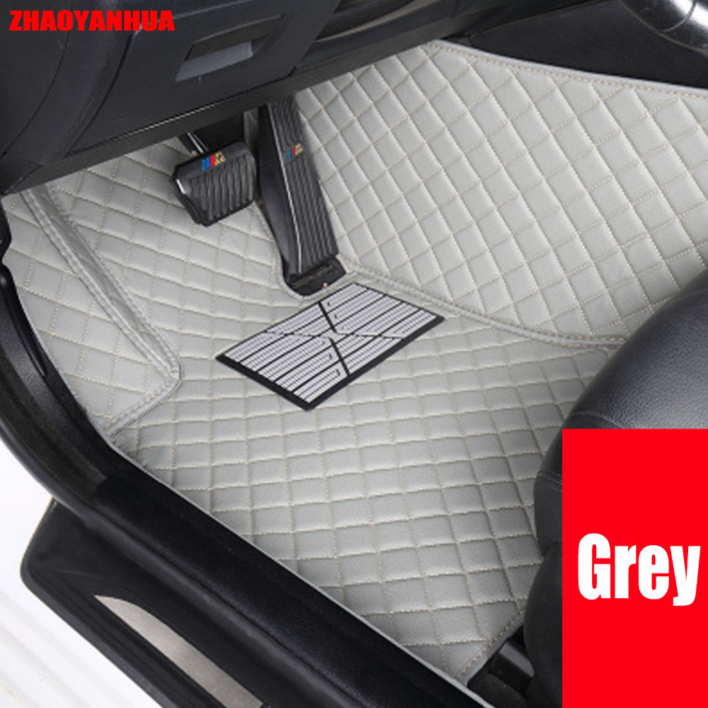 Zhaoyanhua specially made car floor mats for audi a3 6d car styling pvc leather luxury perfect carpet rugs liners 2014 present